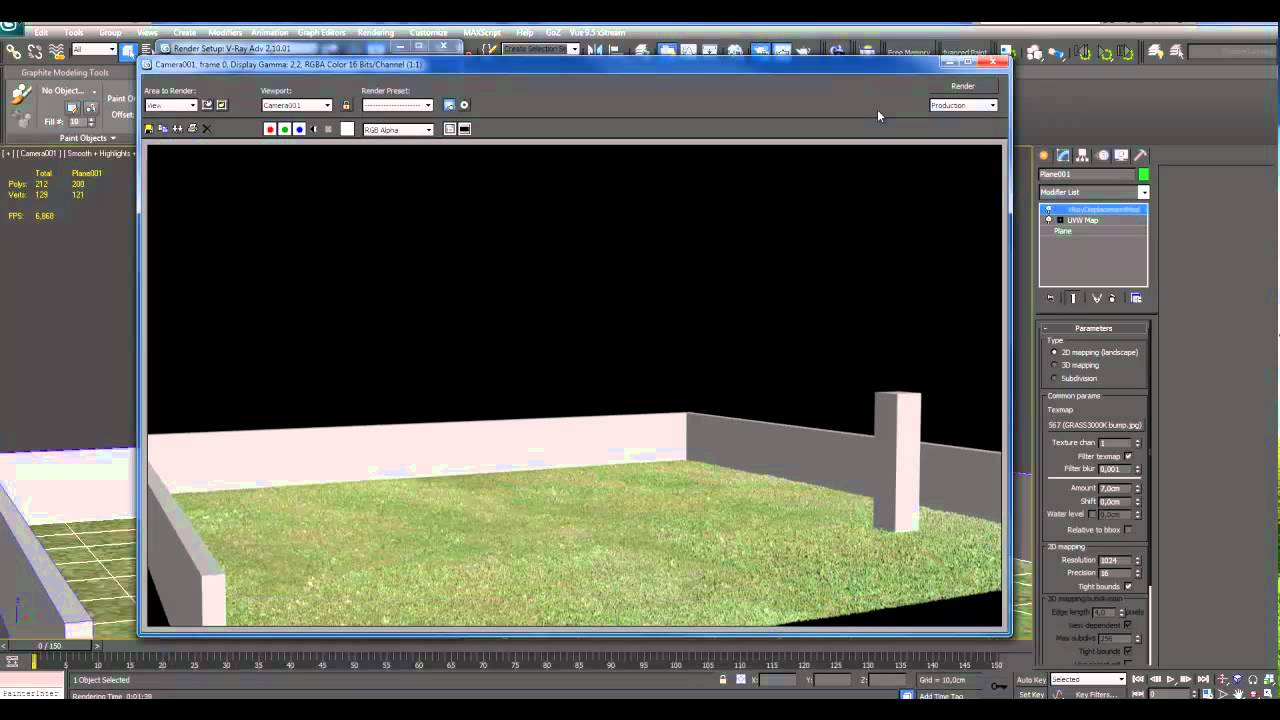 Creare erba con vray displacement parte02 3ds max youtube - Materiale specchio 3ds max ...