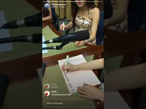 170825 KBS World Radio Indonesia Instagram Live with GFRIEND (여자친구)