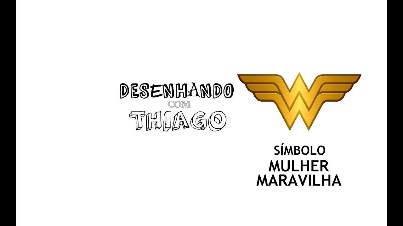 Mulher Maravilha Simbolo Desenhando Com Thiago 75 Youtube