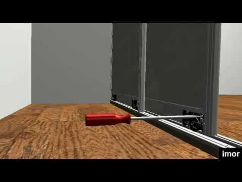 C mo instalar las puertas correderas para armarios gama - Herrajes puertas correderas ...