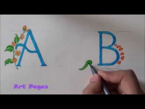 How To Draw Fancy Font Letter B Classic Style
