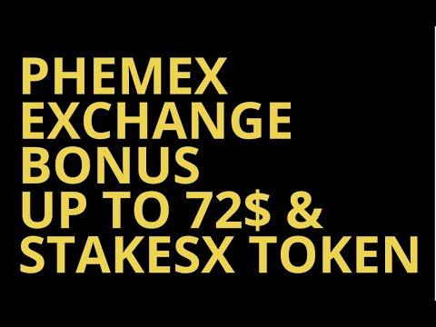 Бонус от биржи Phemex Exchange до 72$ и StakesX Tokens Free / Криптовалюта 2020 Бесплатно