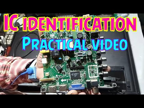 All IC Identification In LCD Led TV Practical Video