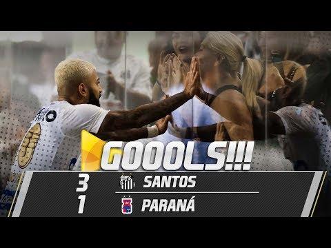 Santos 3 x 1 Paraná | TODOS OS GOLS | Brasileirão (13/05/18)