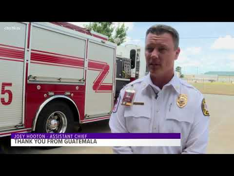 Guatemala delegation thanks Tyler Fire Department for donation