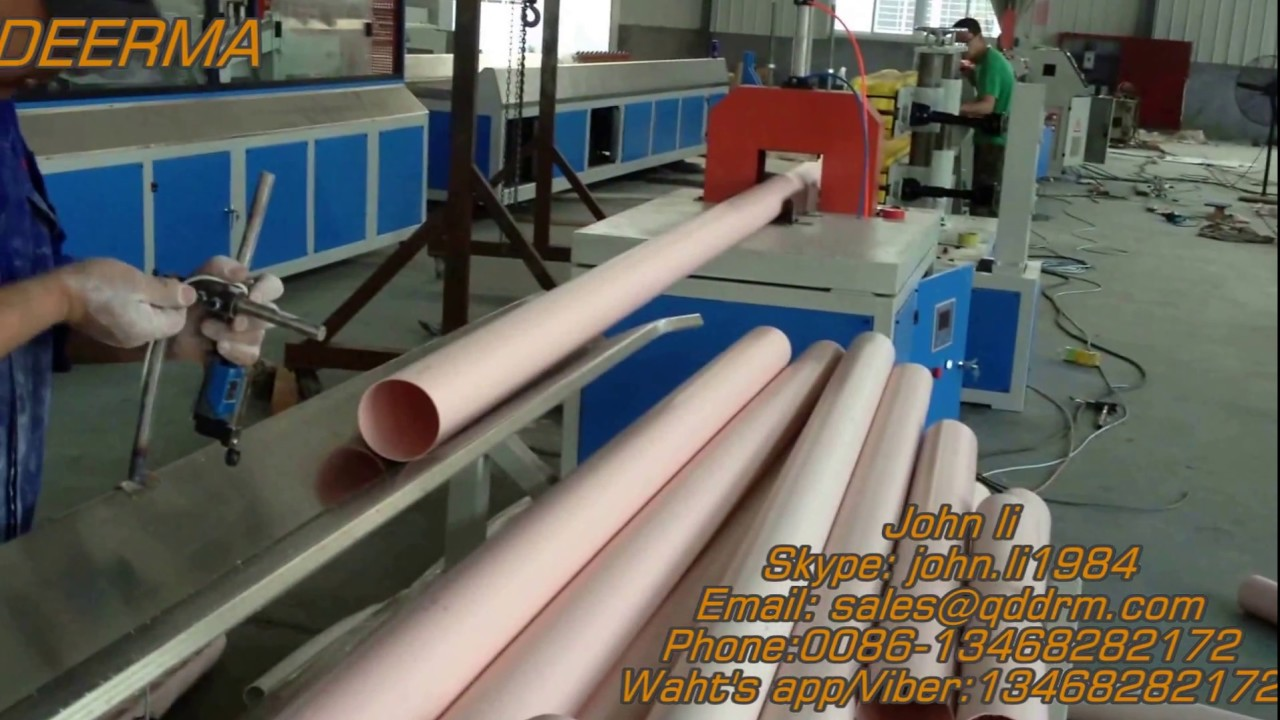 PVC pipe machine/ PVC pipe production line/PVC pipe extruder line/ PVC pipe machine with price - YouTube : plastic pipe production line - www.happyfamilyinstitute.com