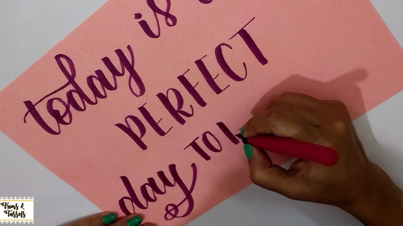 How to write quote using camlin brush pen easy calligraphy for