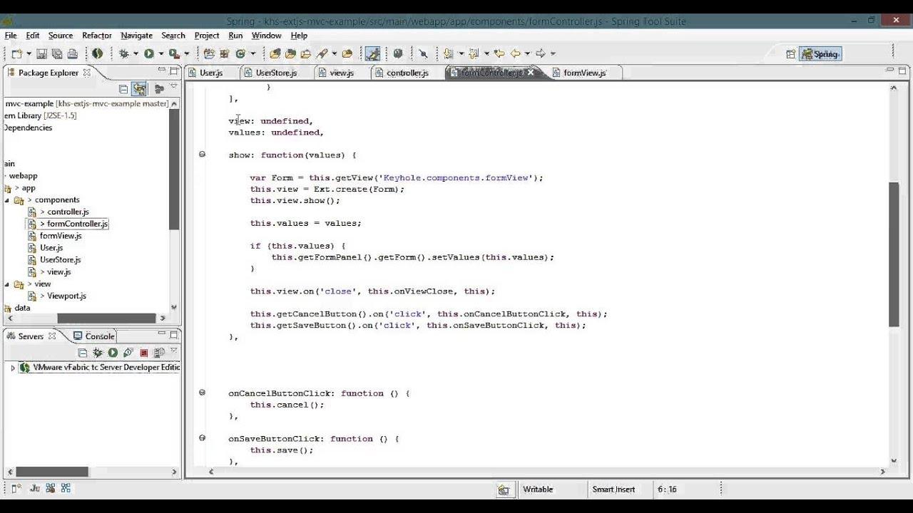 ExtJS Single Page Application Tutorial - Part 5, Popup Controller