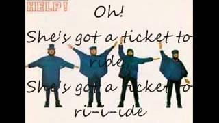 Ticket To Ride - Beatles lyrics