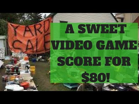 Garage Sale Haul Live! - Awesome Video Game Pickup!