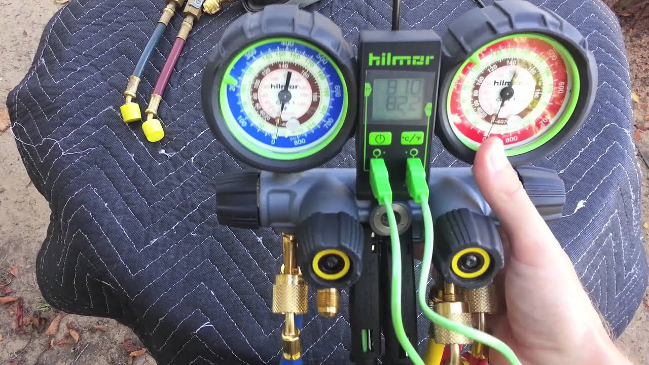 Hilmor 4 Valve Aluminum Manifold Amp Dual Readout