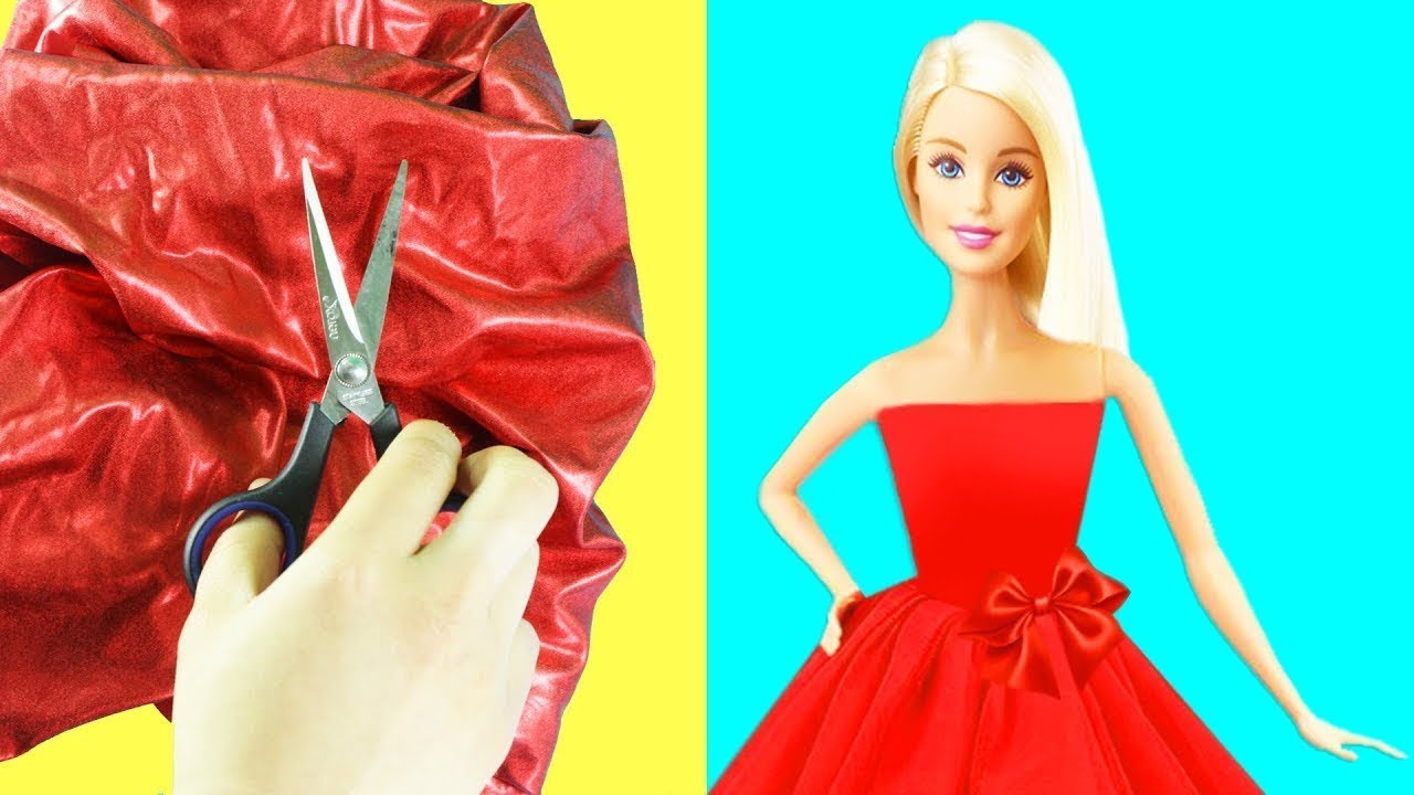 7171acfe3a How to make Barbie clothes without sewing - simplekidscrafts