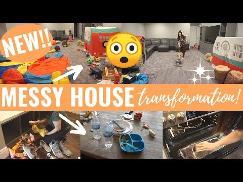 😱*HUGE* WHOLE HOUSE CLEAN WITH ME 2019   EXTREME CLEANING MOTIVATION   COMPLETE DISASTER