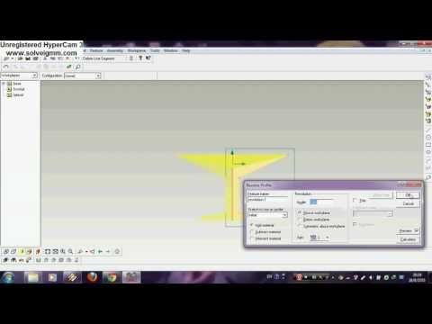 การสร้างชิ้นงานจากโปรแกรม Pro/Desktop 8.0