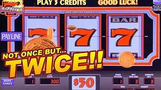 $150 BETS = 3 MASSIVE JACKPOTS! ★ SIZZLING 7 SLOT MACHINE ➜ HIGH LIMIT JACKPOTS!