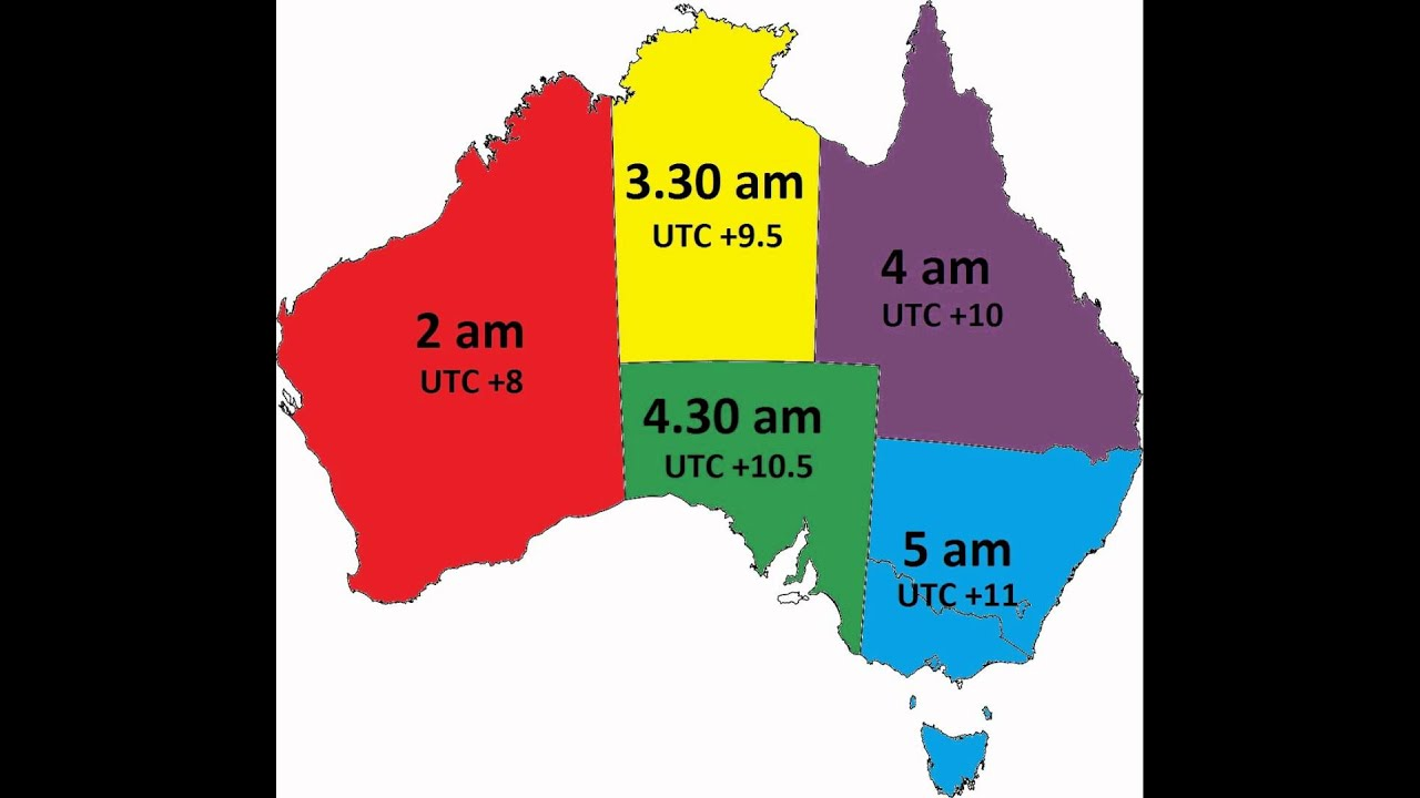 Time In Australia During Daylight Saving Time YouTube - Map of us time zones during daylight savings