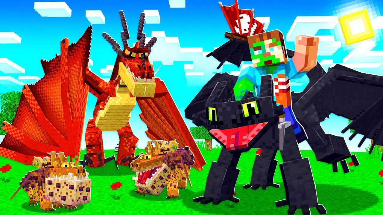 Download HOW TO TRAIN YOUR DRAGON MINECRAFT MOVIE!