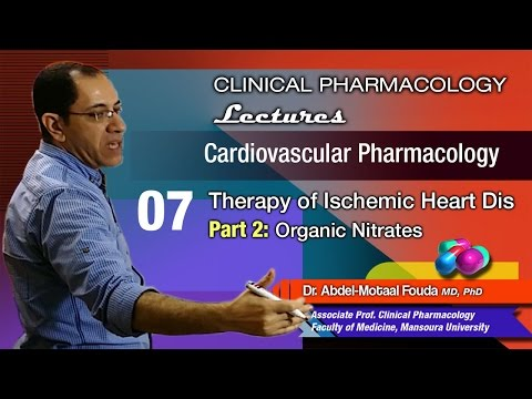 Cardiovascular Pharmacology - 07 - Ischemic heart dis - Organic nitrates