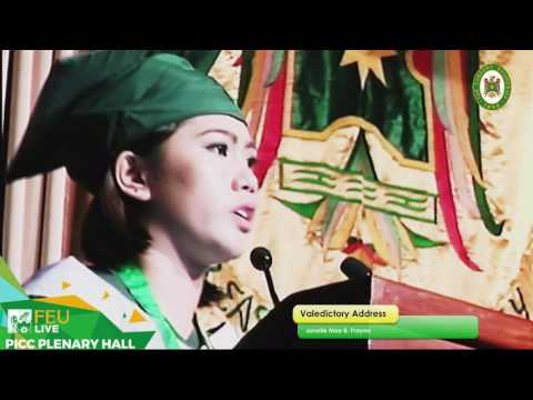 FEU 89th Commencement Exercises Valedictory Address: Janelle Mae Frayna