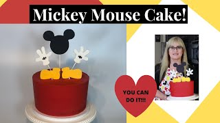 Mickey Mouse Cake l How to make a Mickey Mouse Cake l Easy l Beginner Cake Decorating Tutorial