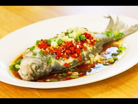 The Hottest Chilies Steamed Fish Recipe 剁椒蒸魚 CiCi Li - Asian Home Cooking Recipes