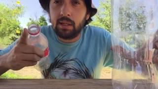 Riego por goteo con botellas de plastico - HUERTO EN CASA //Manos de tierra