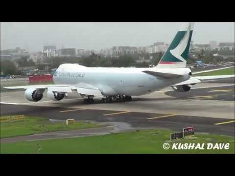 Boeing Biggest Aircraft 747 Take off as Cathay Pacific CARGO(B-LJL)
