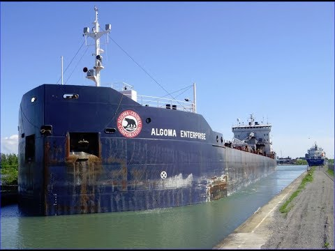 Ships ALGOMA ENTERPRISE & INDUSTRIAL SKIPPER Passing On Welland Canal