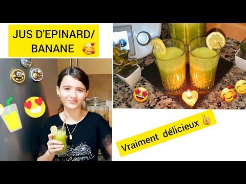 jus-de-banane/epinards/orange/citron-bio-très-facile-et-rapide-au-#thermomix🥰عصير-السبانخ-والموز
