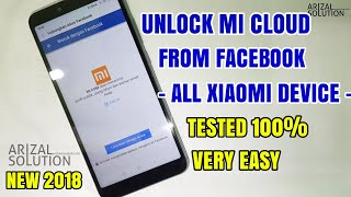 Lupa Password Akun Mi? Unlock Mi Account Mi Cloud Semua Xiaomi, Tanpa Pc (Via Facebook Account)