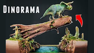 Nasutoceratops Resin River Crossing Diorama with Pivot Action