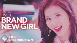 Cover images TWICE - Brand New Girl (Line Distribution)