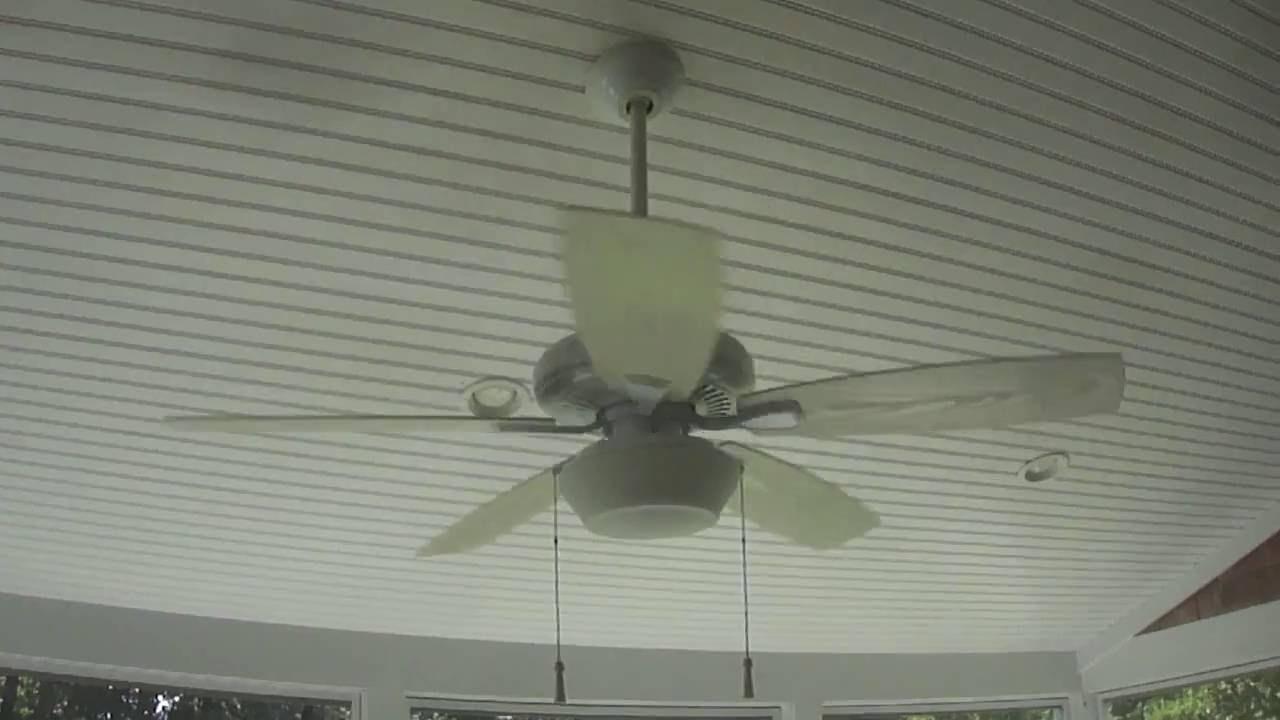 Hampton Bay Gazebo Ii Plus Ceiling Fan 4 Of 4 Youtube