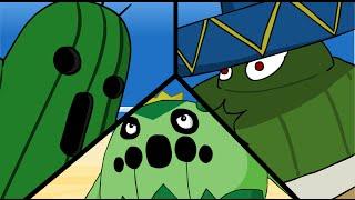 Videogame Cactus Throwdown (Pokemon versus Final Fantasy)
