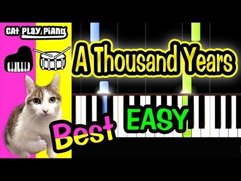 A Thousand Years - Piano Tutorial Easy + Free Sheet Music PDF - Christina Perri thumbnail