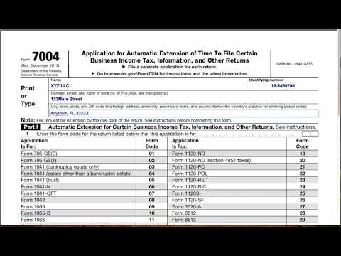 How to file an LLC extension form 7004 - YouTube