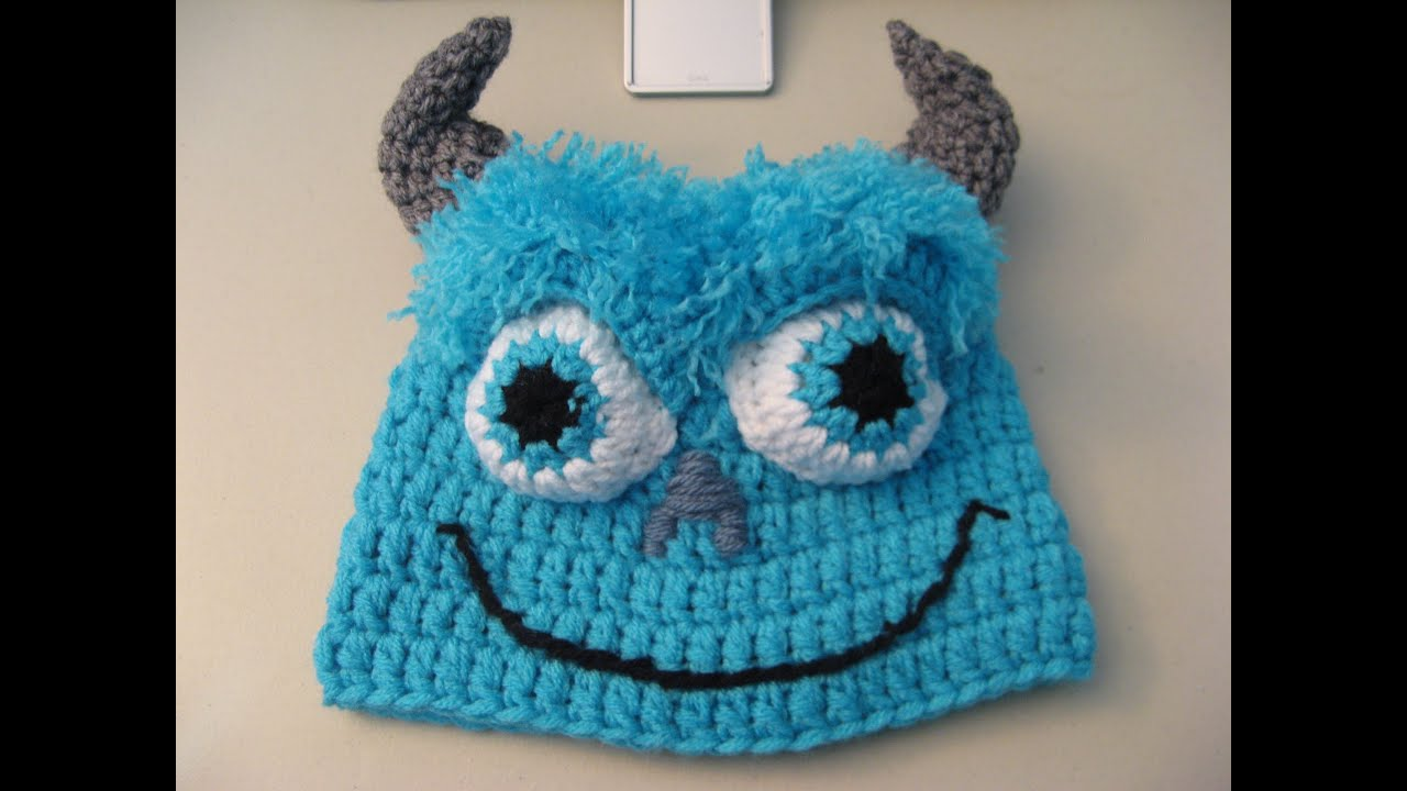 9f8e436ed9367 Crochet Blue Monster Beanie   Video One - YouTube