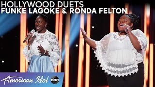 Ronda Felton & Funke Lagoke's Duet Performance Takes an Unexpected Turn - American Idol 2021