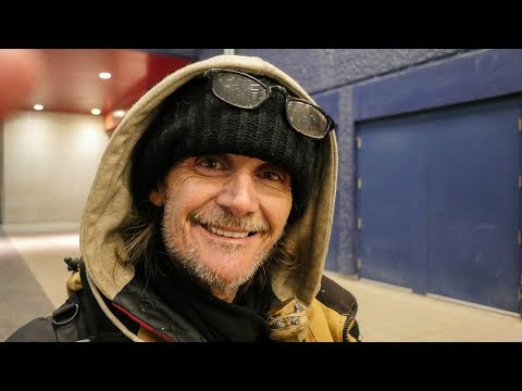 Brad and his wife are homeless in Winnipeg, Canada because welfare cut them off for a year!