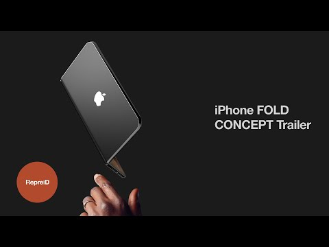 A folding iPhone that has the potential of being a phone, tablet, and even a laptop
