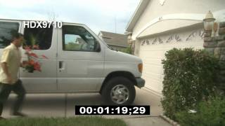 flowers being delivered to a home - hd stock footage