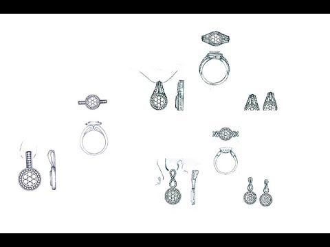 Simple Diamond Pendant Sets Designs Pencil Sketches Jewellery