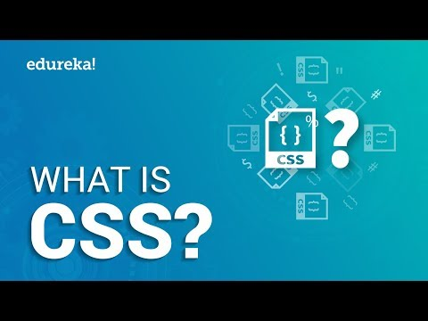 What is CSS |  CSS Explained For Beginners | Web Development Tutorial | Edureka