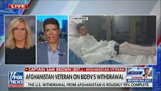 """Biden administration's actions in Afghanistan """"a travesty"""" - Capt. Sam Brown U.S. Senate Candidate"""