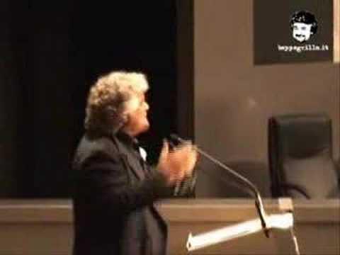 Beppe Grillo interviene all'Assemblea Telecom, 16/4/2007