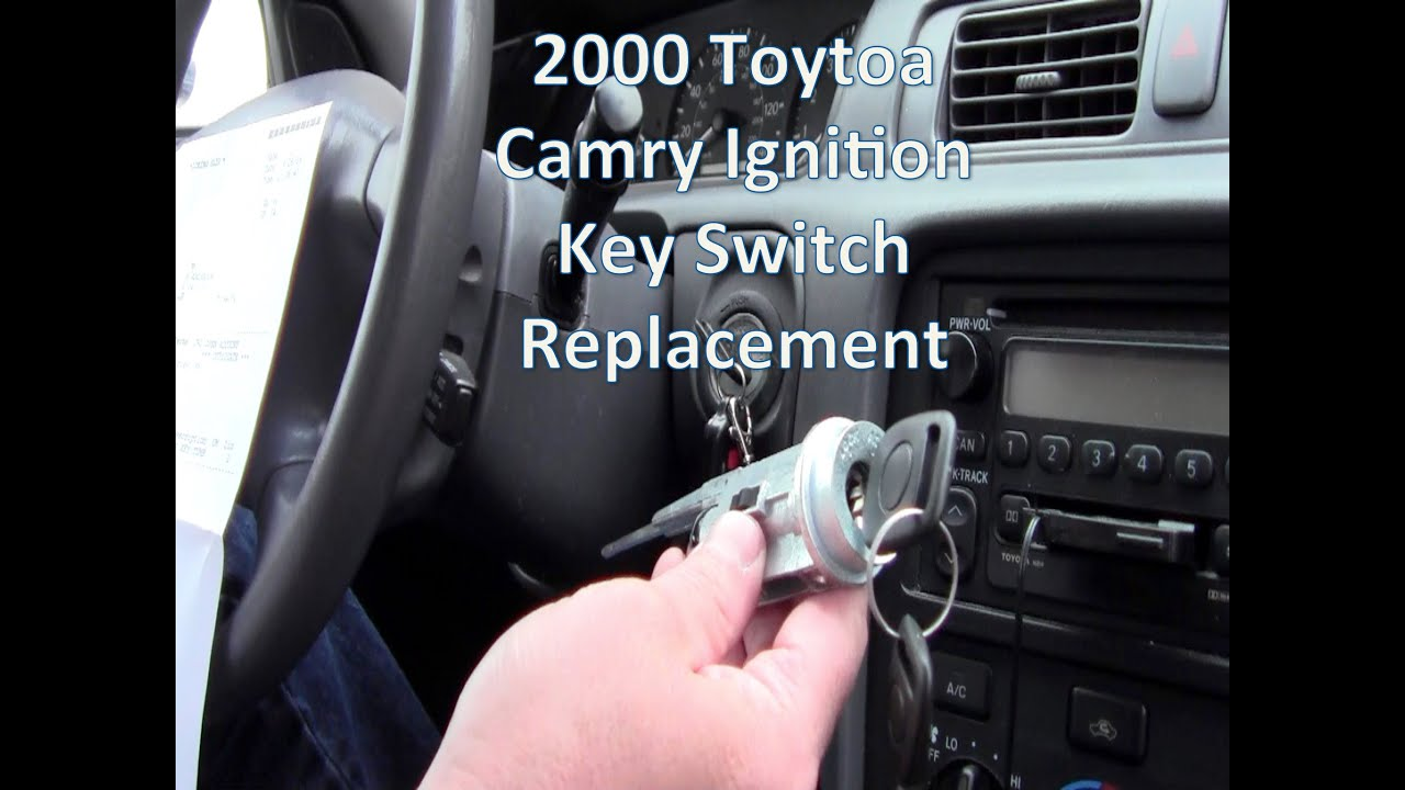 Replace 2000 Toyota Camry Key Ignition Switch  YouTube