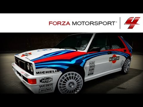 Forza 4 1080p Speed Art Lancia Delta Martini Rally Paint