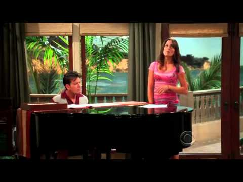 Two and a Half men- Mia singing You'll never find another love like mine.avi