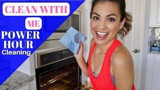 CLEAN WITH ME | POWER HOUR CLEANING | STAY AT HOME MOM