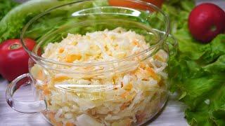 Рецепт квашеной капусты - Хрустящая и Сочная - Для салатов и не только